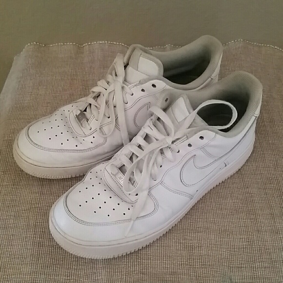 White Nike Air Force Casual Sneakers